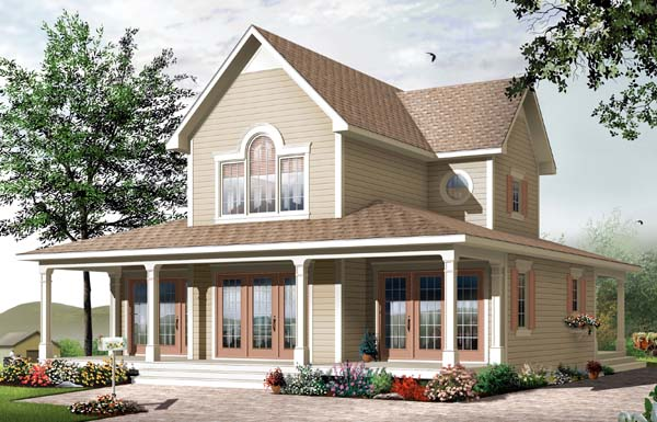 Bungalow Country House Plan 65556 Elevation