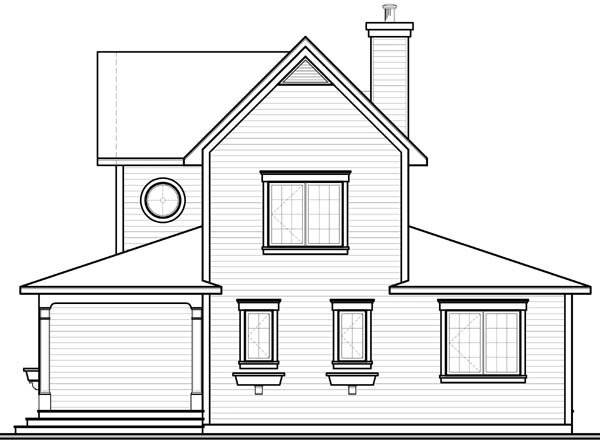 Bungalow Country House Plan 65556 Rear Elevation