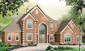 European House Plan 65558 Elevation