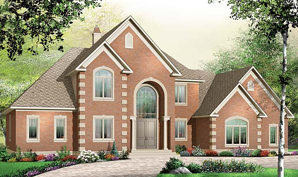 European House Plan 65558 Elevation