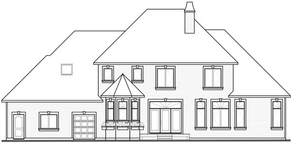 European House Plan 65558 Rear Elevation