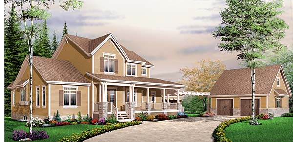 Farmhouse Ranch House Plan 65560 Elevation