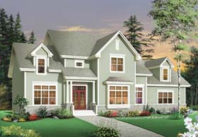 Country Traditional House Plan 65562 Elevation