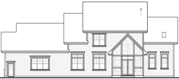 Country Traditional Rear Elevation of Plan 65562