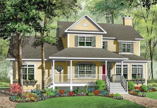 Country Farmhouse House Plan 65564 Elevation