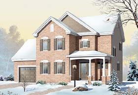 Country , European House Plan 65565 with 3 Beds, 2 Baths, 1 Car Garage Elevation