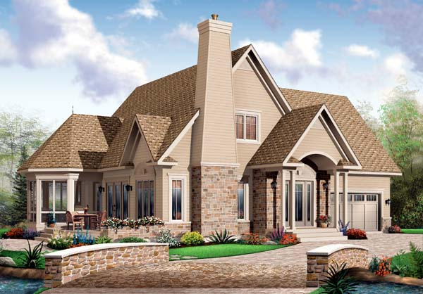 European House Plan 65569 Elevation