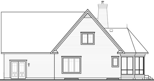 European House Plan 65569 Rear Elevation