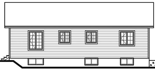 Bungalow Country Traditional House Plan 65570 Rear Elevation