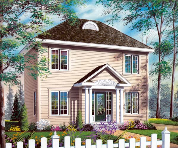 House Plan 65572 | Traditional Style Plan with 1288 Sq Ft, 3 Bed, 2 Bath Elevation