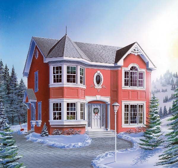 European Victorian House Plan 65573 Elevation