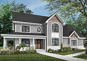 Country Farmhouse House Plan 65575 Elevation