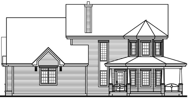 Country Farmhouse House Plan 65575 Rear Elevation