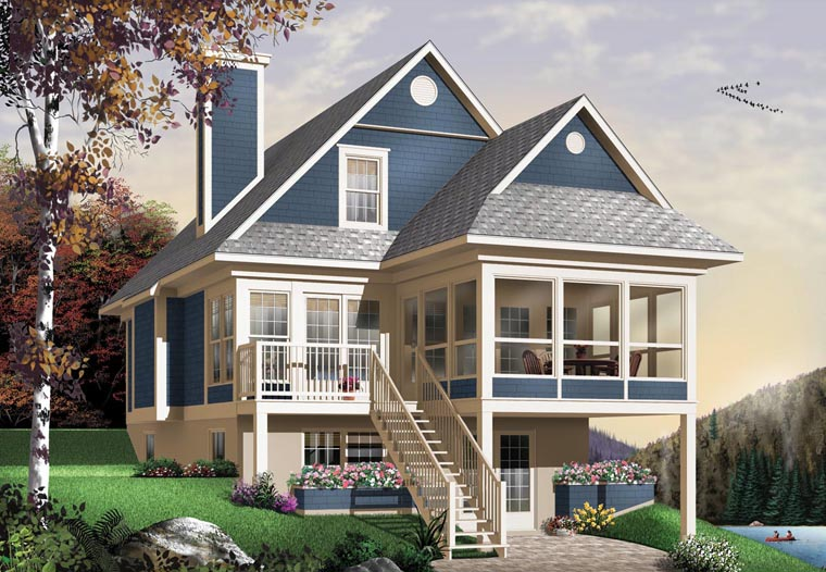House Plan 65576 | Country Style Plan with 1484 Sq Ft, 3 Bed, 2 Bath Elevation