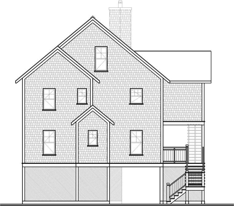 Coastal House Plan 65578 Rear Elevation
