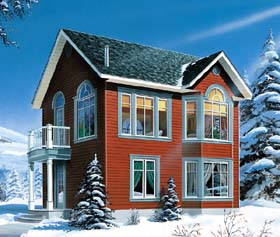 House Plan 65580   Victorian Style Plan with 1142 Sq Ft, 2 Bedrooms, 2 Bathrooms Elevation