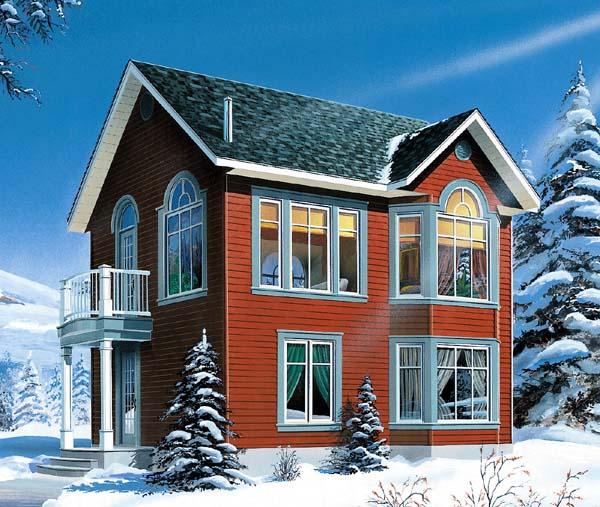 Victorian House Plan 65580 Elevation