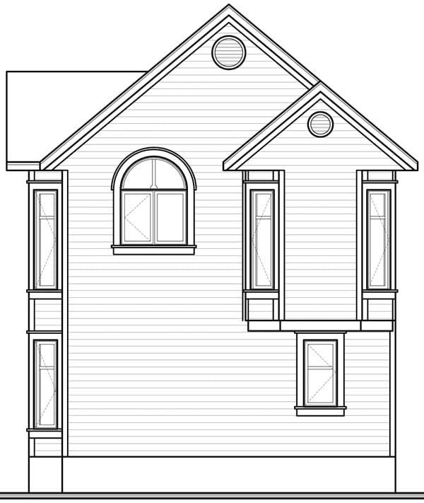 Victorian House Plan 65580 Rear Elevation