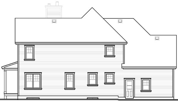 Country Farmhouse Traditional House Plan 65581 Rear Elevation
