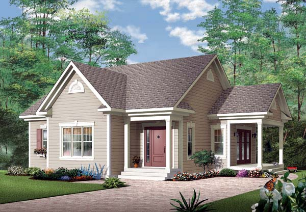 Bungalow Country House Plan 65583 Elevation