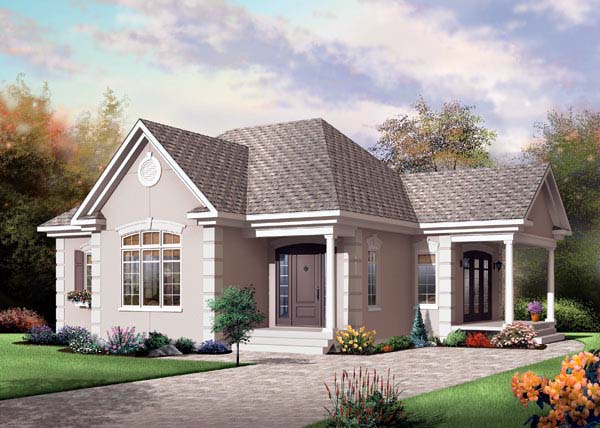 Bungalow Country House Plan 65584 Elevation