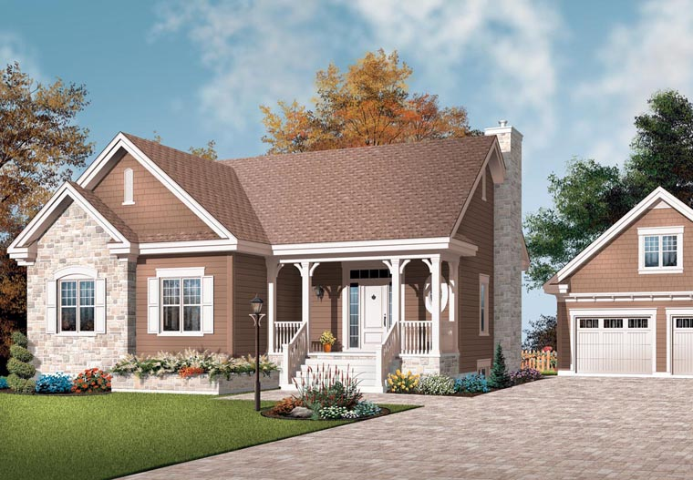 Bungalow Country Craftsman House Plan 65591 Elevation