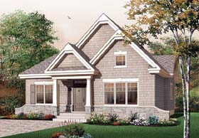 Bungalow Country Craftsman European House Plan 65594 Elevation