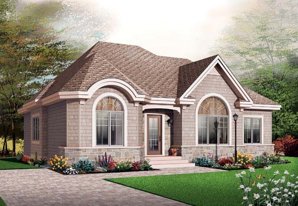 Bungalow Country House Plan 65596 Elevation