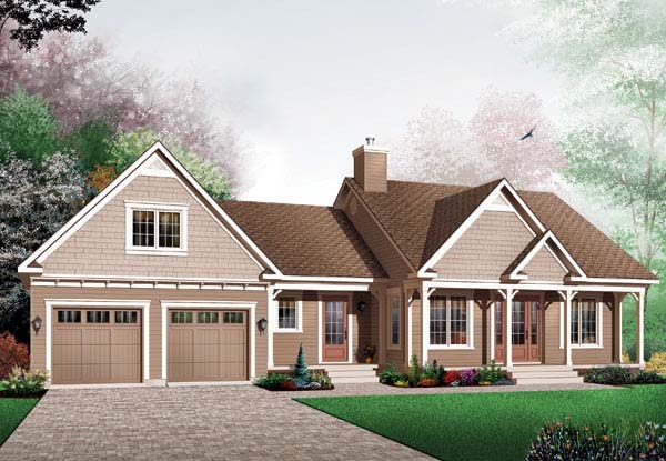 Country Ranch Traditional House Plan 65598 Elevation