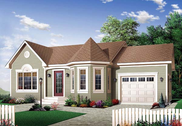 Bungalow Country Victorian House Plan 65599 Elevation