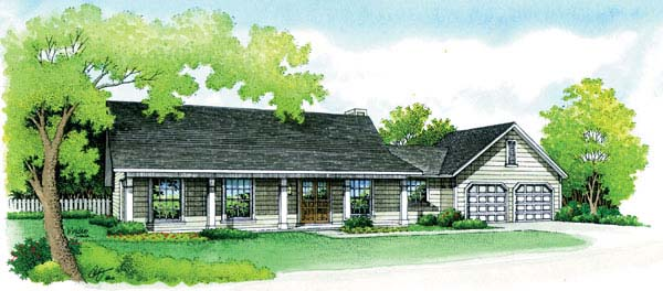 Ranch Traditional House Plan 65600 Elevation