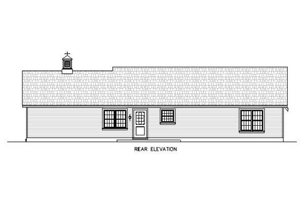 Ranch Traditional House Plan 65600 Rear Elevation