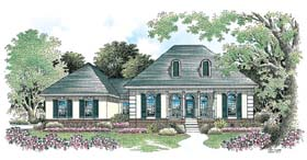 Colonial European Southern House Plan 65601 Elevation