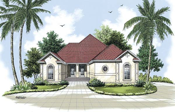 Florida Mediterranean House Plan 65602 Elevation