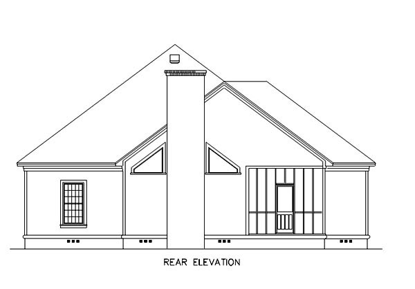 Florida Mediterranean House Plan 65602 Rear Elevation