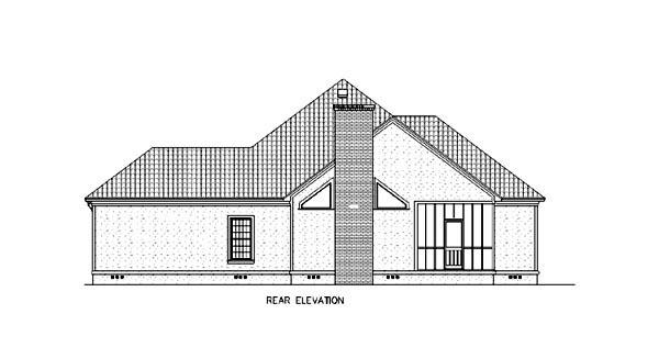 Florida Mediterranean House Plan 65603 Rear Elevation