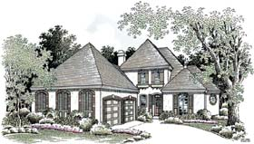 House Plan 65604 | European Southern Style Plan with 2472 Sq Ft, 3 Bedrooms, 3 Bathrooms, 2 Car Garage Elevation