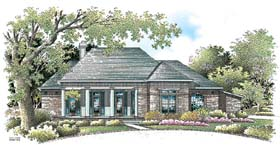 House Plan 65605   Colonial Style Plan with 2503 Sq Ft, 3 Bedrooms, 3 Bathrooms, 2 Car Garage Elevation