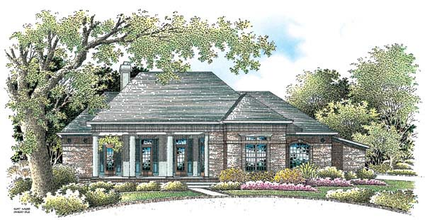 Colonial House Plan 65605 Elevation