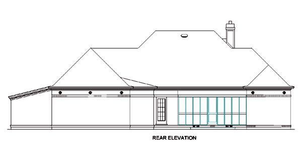 Colonial House Plan 65605 Rear Elevation