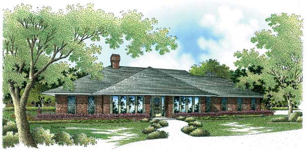Contemporary Prairie Style Southwest House Plan 65606 Elevation