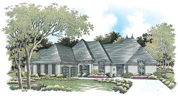 European House Plan 65607 Elevation