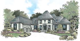 House Plan 65609 | European Style Plan with 4440 Sq Ft, 4 Bedrooms, 6 Bathrooms, 3 Car Garage Elevation