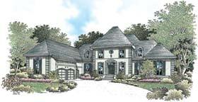 European House Plan 65609 with 4 Beds, 6 Baths, 3 Car Garage Elevation