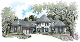European House Plan 65610 with 4 Beds, 6 Baths, 3 Car Garage Elevation