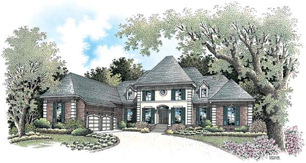 European House Plan 65610 Elevation