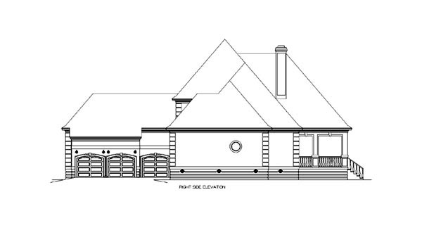 European House Plan 65610 with 4 Beds, 6 Baths, 3 Car Garage Picture 2