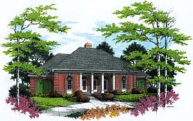 Colonial European Southern House Plan 65612 Elevation