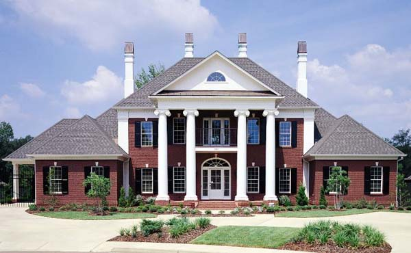 Colonial Plantation Southern House Plan 65614