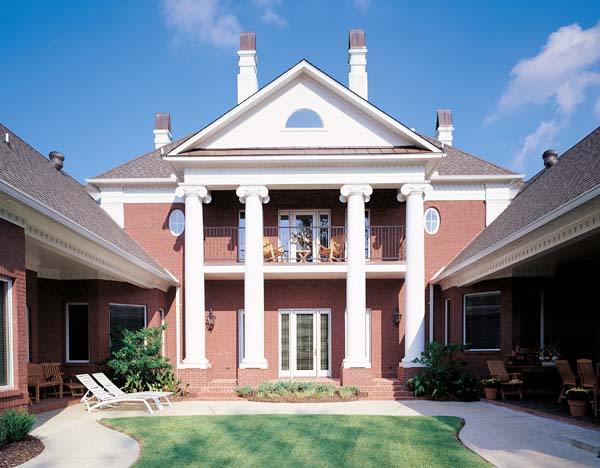 Colonial plantation southern house plan 65614 for Historic southern house plans